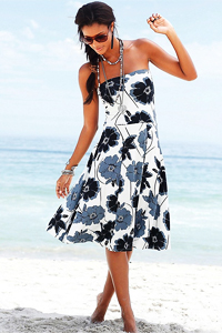 LASCANA Black & Grey Print 4 in 1 Beach Dress