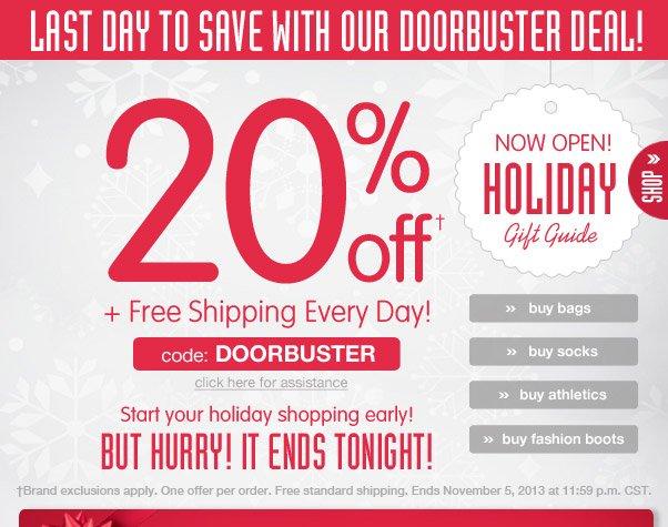 20% Off Doorbuster Deal Still Going Strong…