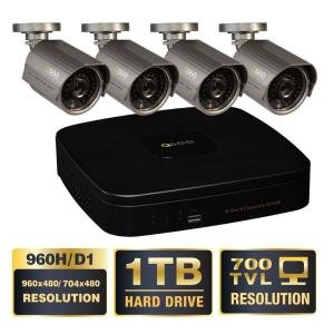 Premium Series 8-Channel 960H 1TB Video Surveillance System with (4) Hi-Res 700 TVL Cameras