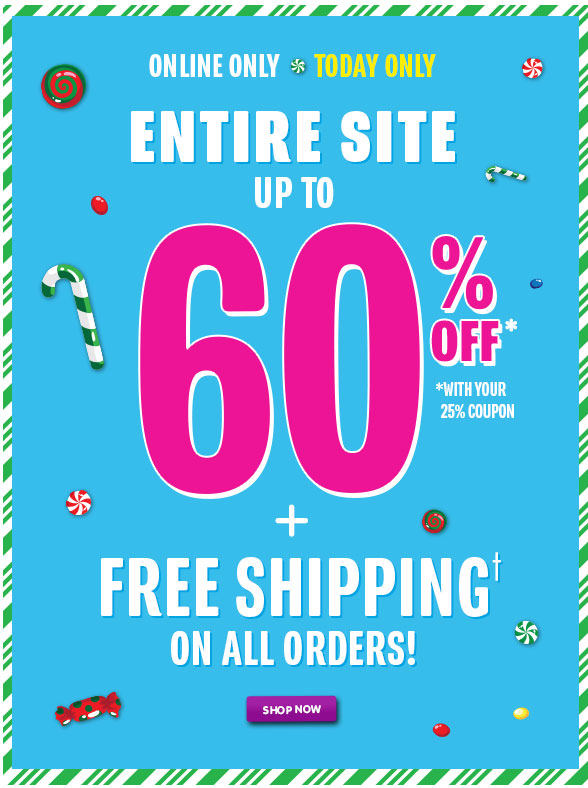 Up to 60% Off Entire Store + Free Shipping!