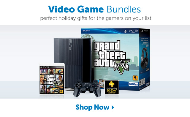 Video Game Bundles - perfect holiday gifts for the gamers on your list - Shop Now