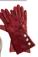 3 Button Haircalf Side Snap Glove