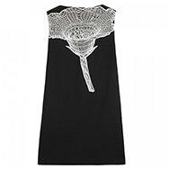 CHRISTOPHER KANE - Floral mesh embellished wool twill dress