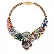 SHOUROUK - Apolonia Fox Rainbow crystal embellished necklace