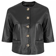 MOSCHINO CHEAP AND CHIC - Daisy embellished leather jacket