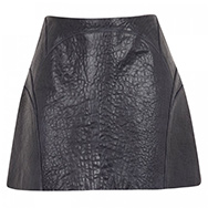 O'2ND - Pebbled leather mini skirt