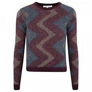 CARVEN - Zigzag angora blend jumper
