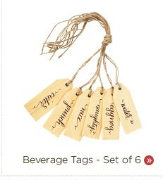 Beverage Tags - Set of 6