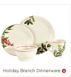 16 Pc Holiday Branch Dinnerware