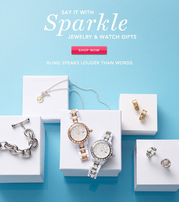 Say It with Sparkle: Jewelry & Watch Gifts