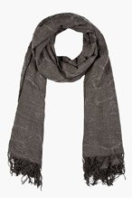 MA JULIUS Charcoal Textured Scarf for men