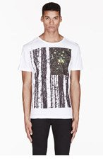KSUBI White UNIVERSAL FLAG print T-shirt for men
