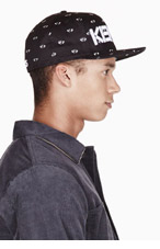 KENZO Black & White ALL OVER EYES NEW ERA edition cap for men