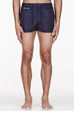 MARC BY MARC JACOBS Navy five-pocket Solid swim shorts for men