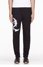 MCQ ALEXANDER MCQUEEN Black LOGO-printed LOUNGE PANTS for men