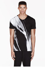 MA JULIUS Black painted UNISEX t-shirt for men