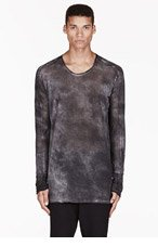 MA JULIUS Grey mottled Fog UNISEX shirt for men