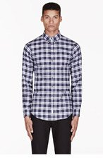 DSQUARED2 Blue plaid carpenter button-down shirt for men