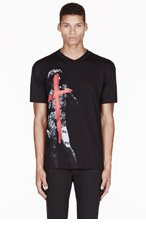 MCQ ALEXANDER MCQUEEN Black cross & body print t-shirt for men