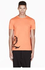 MCQ ALEXANDER MCQUEEN Orange LOGO print T-SHIRT for men