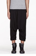 MA JULIUS Black unisex harem trousers for men