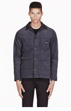 A.P.C. Slate grey corduroy Cathartt edition Gabrielle jacket for men
