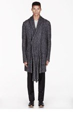 MA JULIUS Grey mottled UNISEX cardigan for men