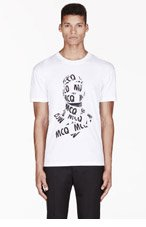 MCQ ALEXANDER MCQUEEN White Logo tape printed T-SHIRT for men