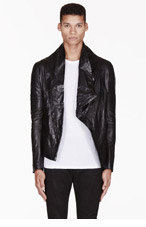 MA JULIUS Black leather UNISEX jacket for men