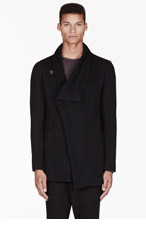 MA JULIUS Black wool Unisex jacket for men