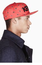 KENZO Red & Black ALL OVER EYES NEW ERA edition cap for men