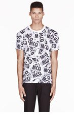 MCQ ALEXANDER MCQUEEN White layered loigo print T-SHIRT for men