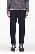 JUNYA WATANABE NAVY Wool longe PANTS for men