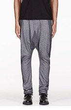MA JULIUS Grey paneled unisex harem pants for men