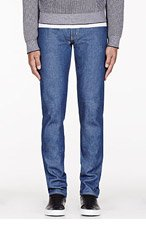 NAKED AND FAMOUS DENIM Blue Super Skinny Guy Big John x Rockin Jellybean x NF Jeans for men