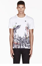 MCQ ALEXANDER MCQUEEN White & black Wild logo print T-SHIRT for men