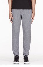 MCQ ALEXANDER MCQUEEN Grey classic embroidered LOUNGE PANTS for men