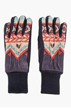CARVEN Dark Purple Patterned gloves for men