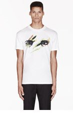 MCQ ALEXANDER MCQUEEN White Painted EYES print T-SHIRT for men