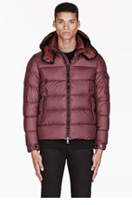 MONCLER Burgundy quilted HYMALAY jacket for men