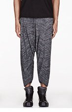 MA JULIUS Grey slub ribbed UNISEX lounge pants for men