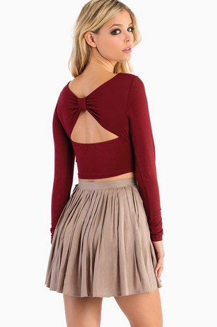 BACK BOW CROP TOP 22
