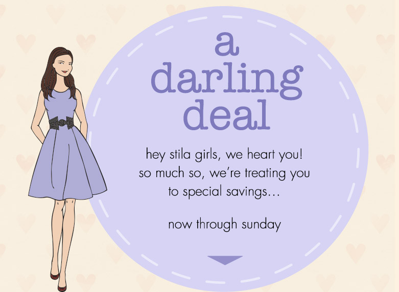 a darling deal now through sunday - save up to $30