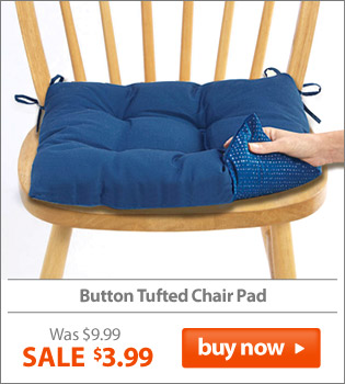 Button Tufted Chair Pad