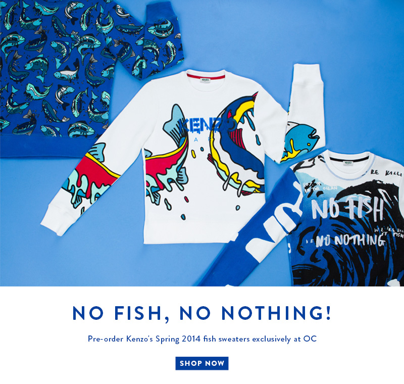Pre-Order Kenzo's Spring 2014 Fish Sweaters Exvlusively at Opening Ceremony - No Fish, No Nothing! Shop Now