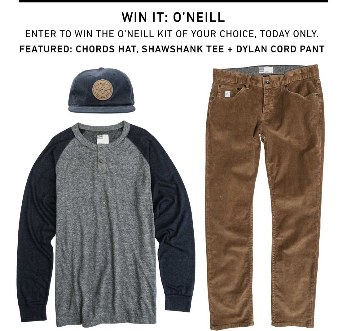 Enter To Win A Kit from O'neill - Today Only!