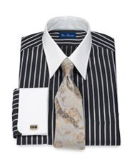 Stiped French Cuff Dress Shirt