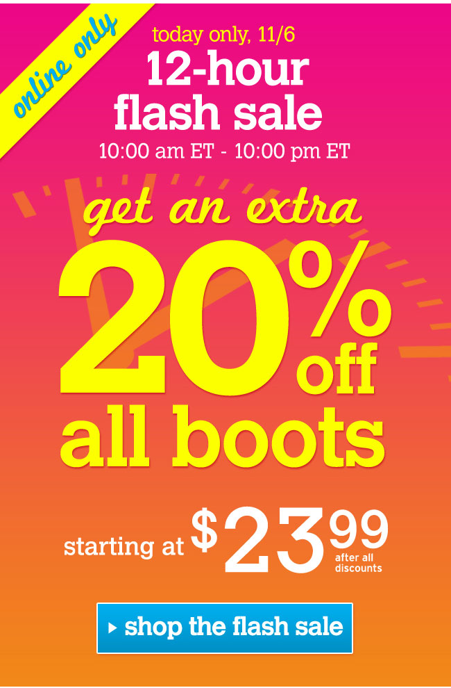 extra 20% off boots