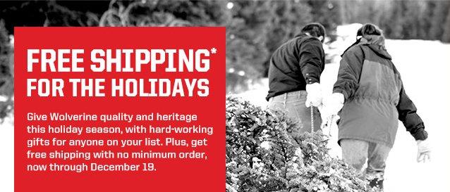 FREE SHIPPING with NO MINIMUM thru 12/19