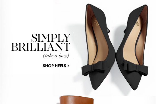 SIMPLY BRILLIANT (take a bow)  SHOP HEELS